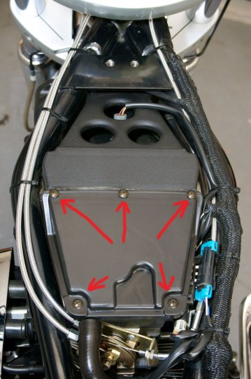 victory motorcycle air box cover