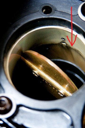 carbon buildup in a throttle body on a victory motorcycle
