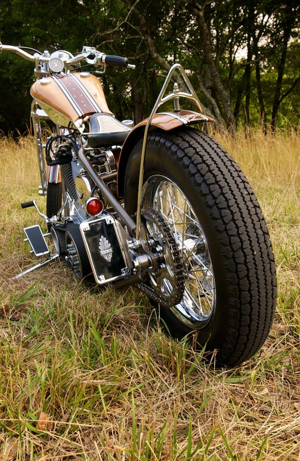 rear view custom harley davidson