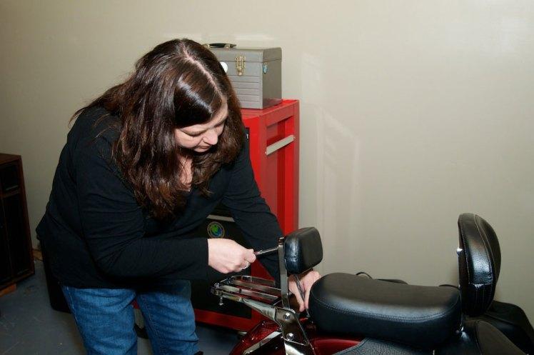 removing the rear seat bolt honda areo
