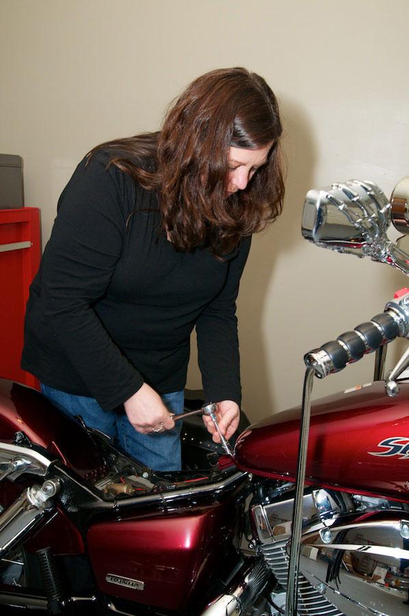 removing rear mounting bolt honda shadow