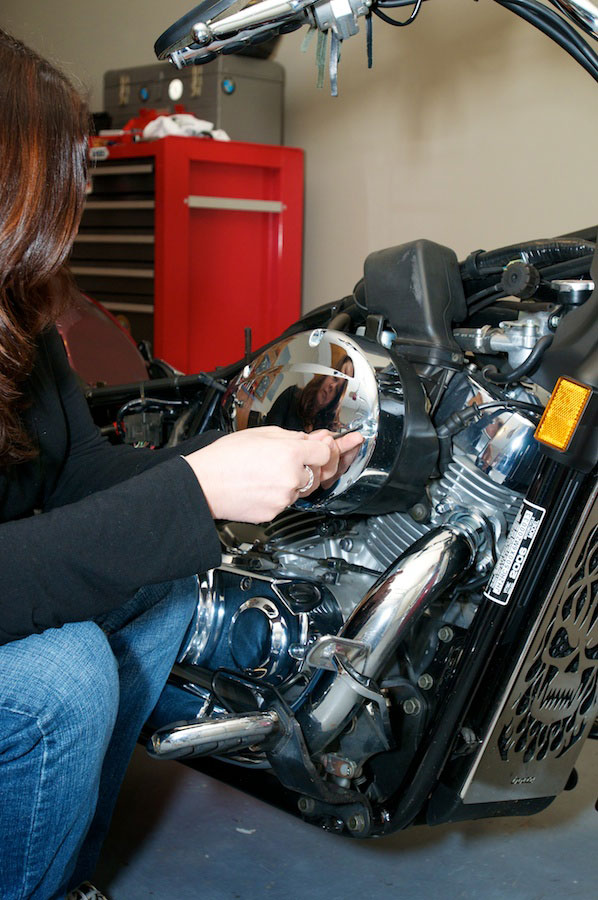 removing the aircleaner cover honda shadow