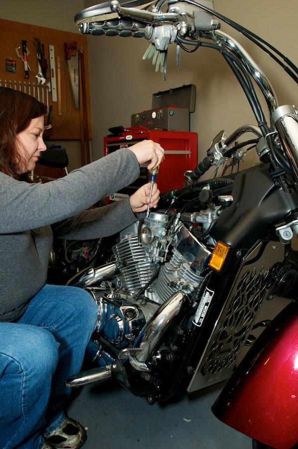 removing the carburetor slide cover honda aero