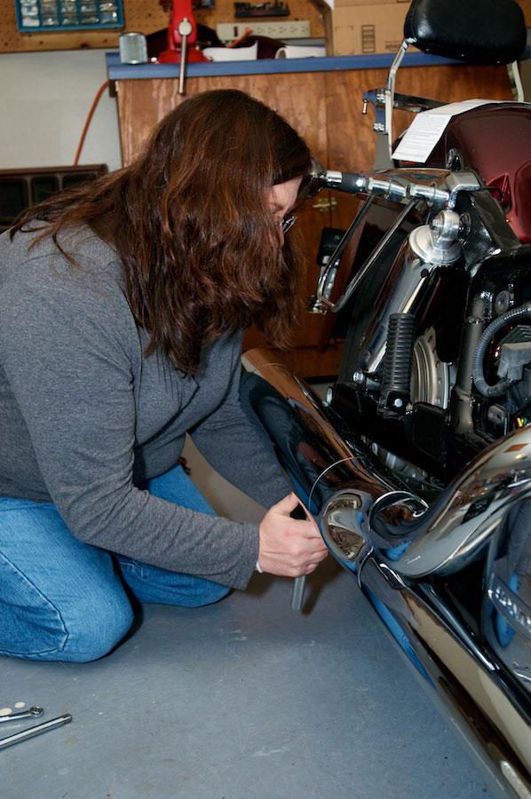 removing rear bolts exhaust honda aero