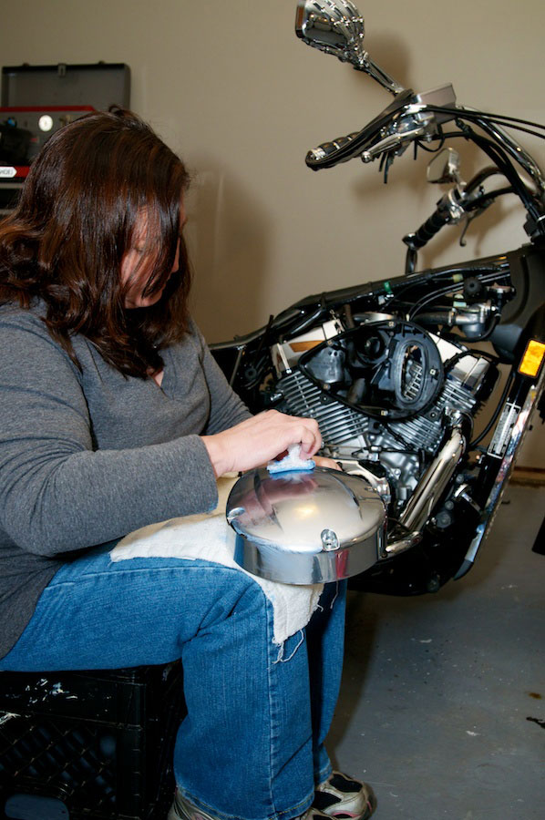polishing honda aero air cleaner
