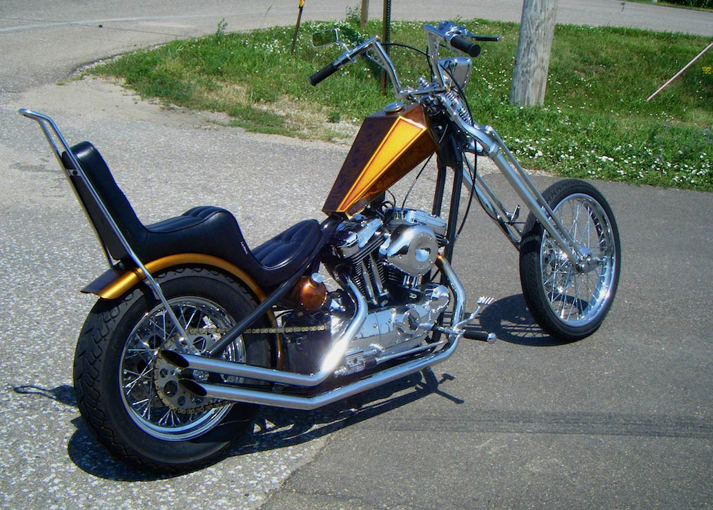 Featured Bike April Knapp S Chopped 1200 Sportster The Bikers Garage