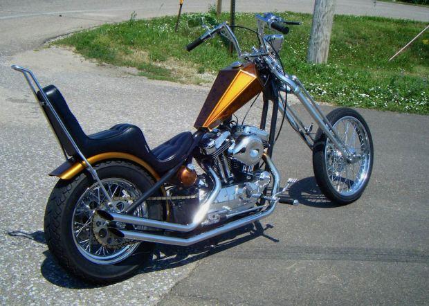 harley-davidson sportster paugco springer and wheels