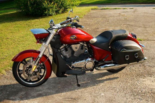 right side 2012 victory cross roads sunset red