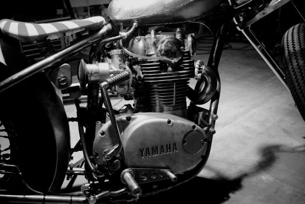 yamaha xs 650 custom engine front right view
