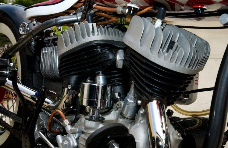 engine details harley 45 bobber