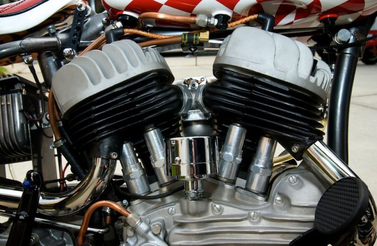 harley davidson forty five right side tank detail
