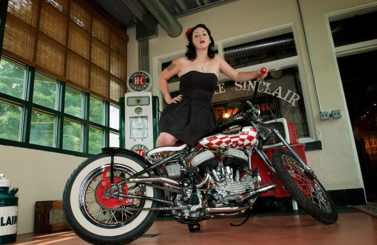 harley 45 bobber right side low angle