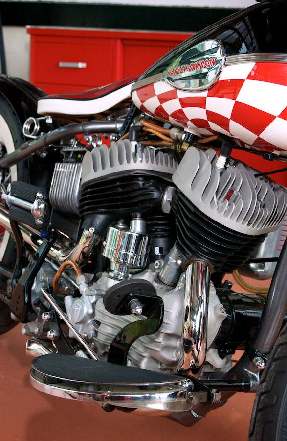harley davidson 45 flathead bobber engine detail