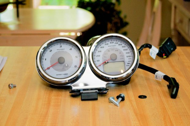 victory cross roads tachometer kit assembled