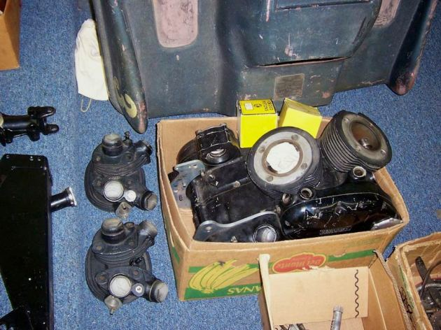 vincent rapide engine in a box