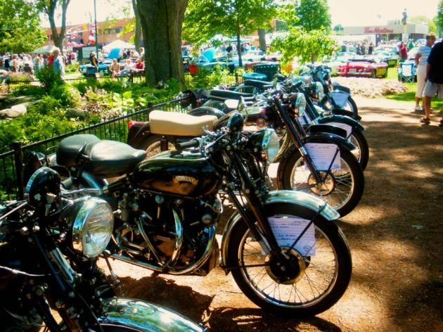 1951 vincent black shadow at motorcycle show
