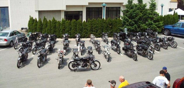 vincent owners rally display