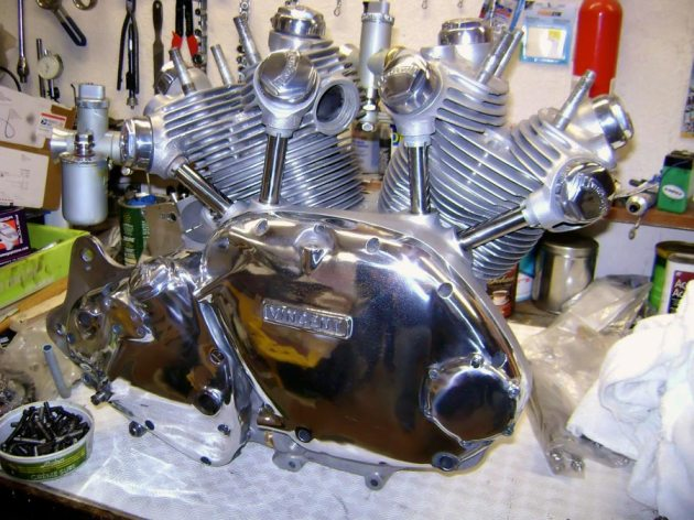 vincent engine finished on bench