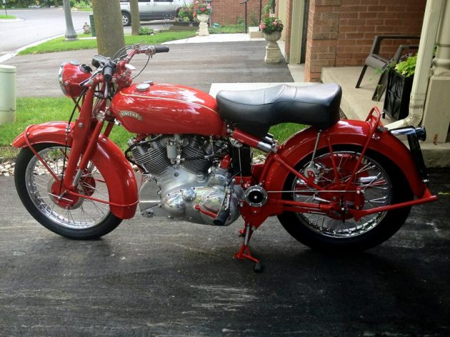 vincent rapide chinese red left side view