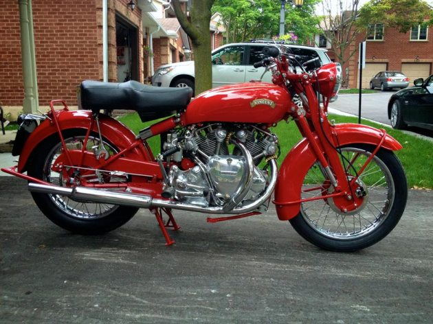 vincent rapide chinese red right side full