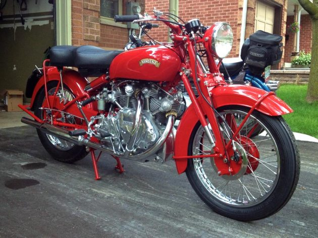 vincent rapide chinese red right side low view
