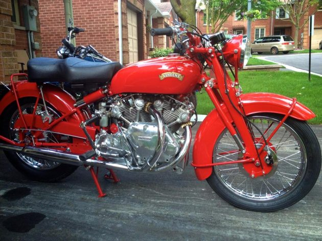 vincent rapide chinese red right side view
