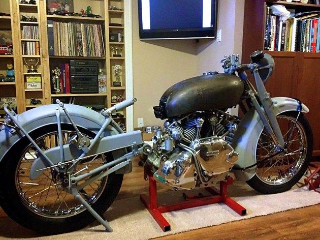 vincent rapide engine front-rear frame mock up