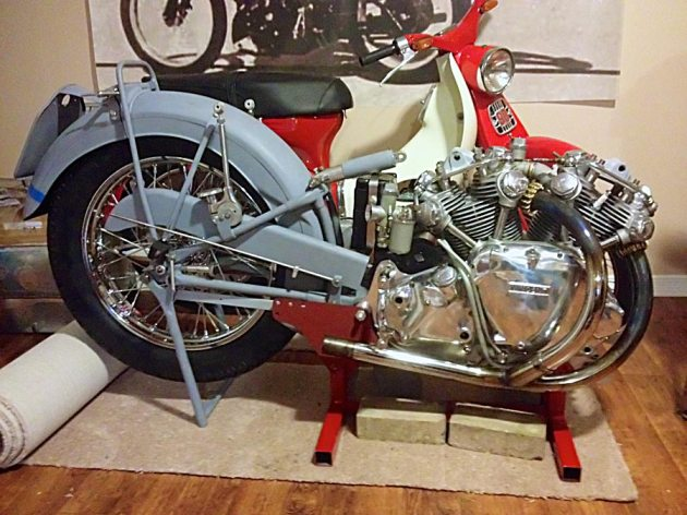 vincent-rapide-engine-rear-frame-mock-up