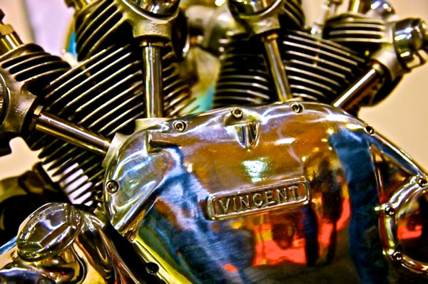 vincent rapide engine detail right side case