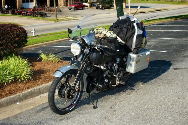 vincent ride around america vincent left side