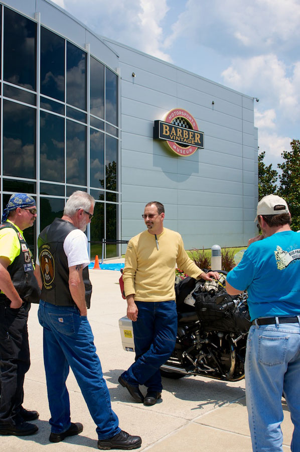 vincent around america outside the barber motorcycle museum