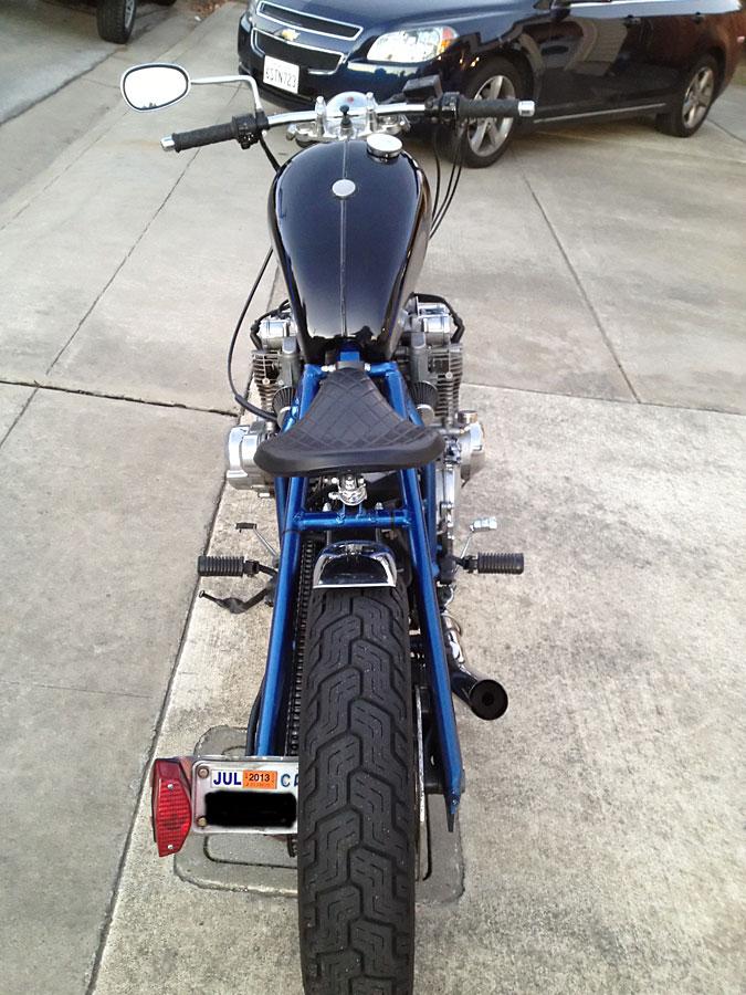 suzuki gs 1100 custom bobber rear view