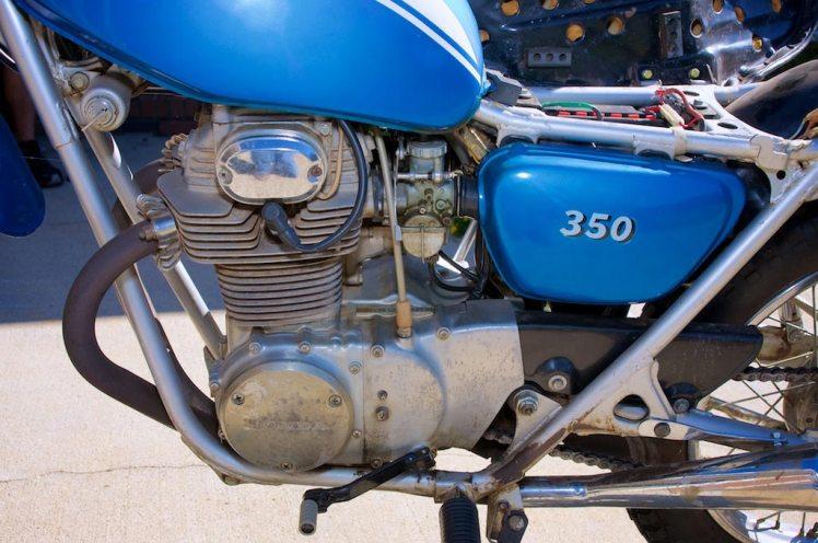 1971 Honda SL 350 left view engine