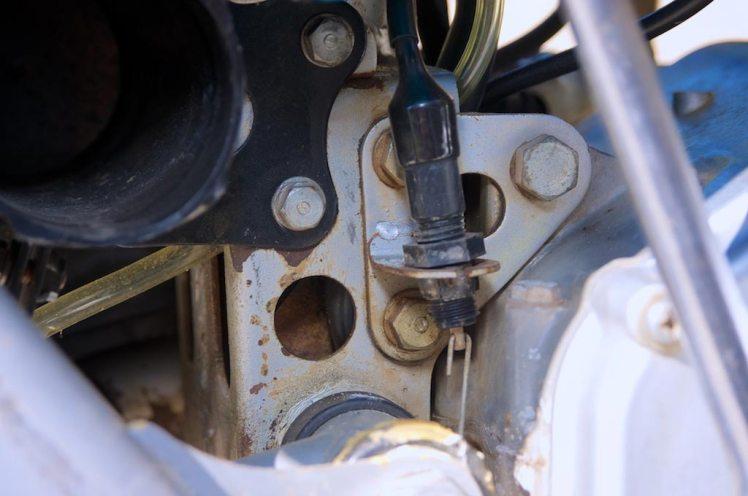 1971 Honda SL 350 right side view tool box detail