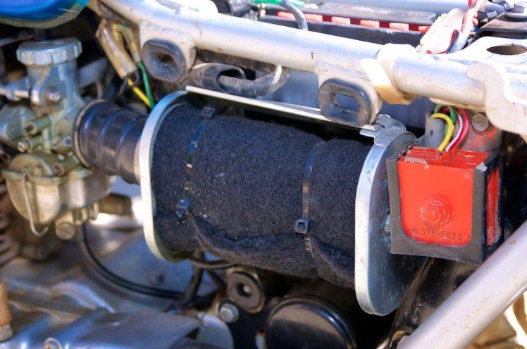 1971 Honda SL 350 left side view air cleaner
