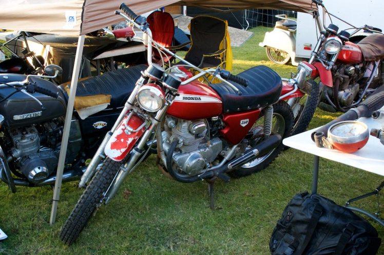 unrestored 1970 Honda SL 350 at barber vintage days