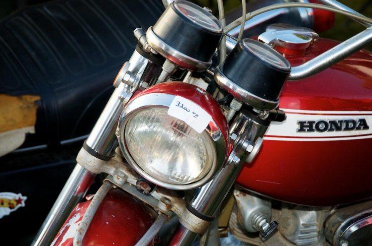 unrestored 1970 Honda SL 350 at barber vintage days price detail