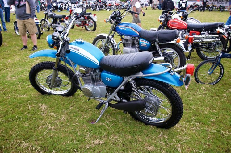 restored 1971 Honda SL 350 left side view