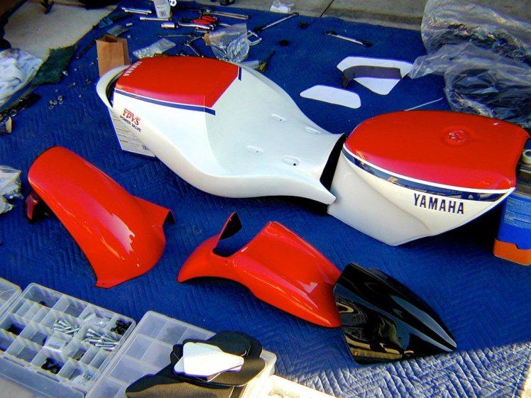 yamaha rz 350 forkless design bodywork