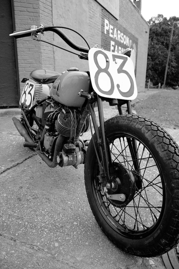 1941 indian scout bobber right hand side front view