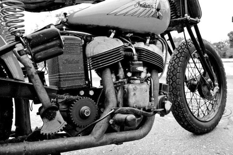 1941 indian scout bobber right hand side view low