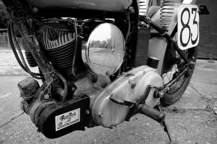 1941 indian scout bobber right hand side gas tank detail