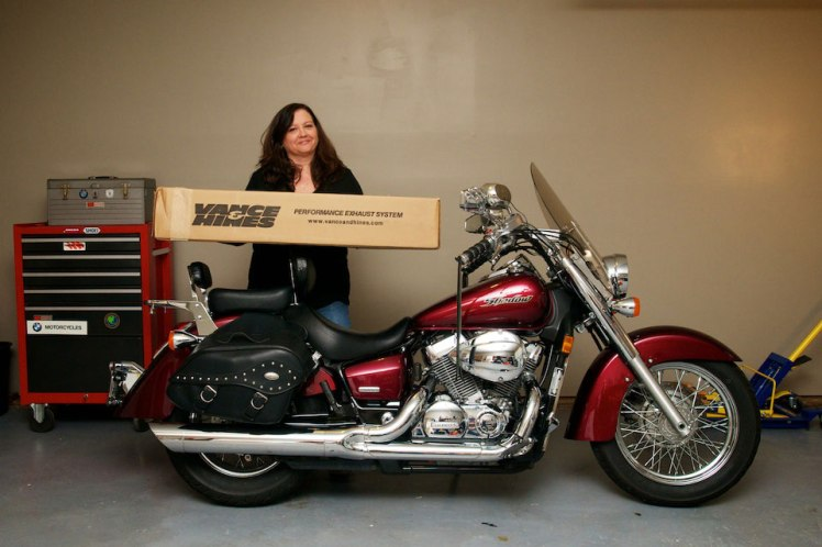 vance and hines cruzers exhaust for honda shadow